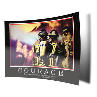 Courage Poster -ORIGINAL- Barney Stinson Poster - 10/13 -...