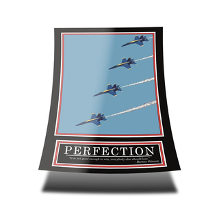 PERFECTION Poster -ORIGINAL- Barney Stinson Poster - 5/13 - How I met your mother - Poster - Motivation Poster - Büro Poster - Barney Stinson Office Poster - Flugzeug Poster - motivational poster perfection