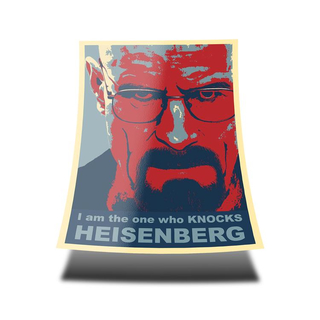 Walter White I am the one who KNOCKS HEISENBERG red blue Poster (85 x 60 cm)